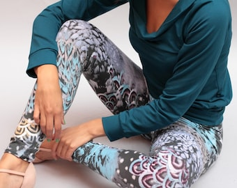 """Damar"" legging legging yoga, yoga print legging pants, cotton pants, legging, leggings"