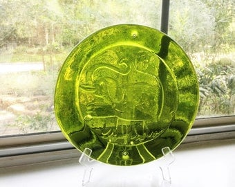 RESERVED Vintage Blenko Glass Sun Catcher - Elephant Decor