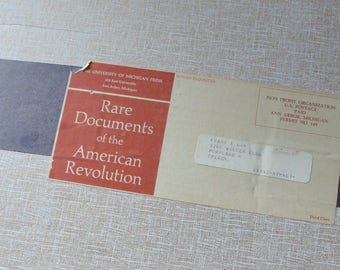 1967 Prints of Rare Documents of the American Revolution, Published by the Univeristy of Michigan, Good Quality Prints