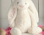 Monogrammed Easter Bunny, Monogrammed Stuffed Animals, Stuffed Bunny, Bunny Plush, Personalized Easter, Personalized Stuffed Animals, Rabbit