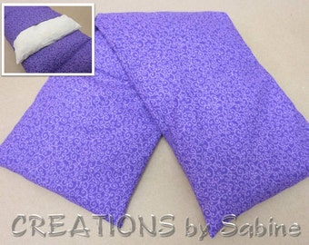Heat Wrap Microwaveable Corn Neck Washable Cover Corn Pillow Hot Cold Pack Purple Swirls Design Lavender Simple READY TO SHIP (471)