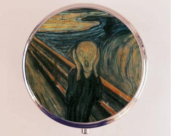 Scream Edvard Munch Pill Box Case Pillbox Holder Trinket Box Fine Art Painting Artwork Goth