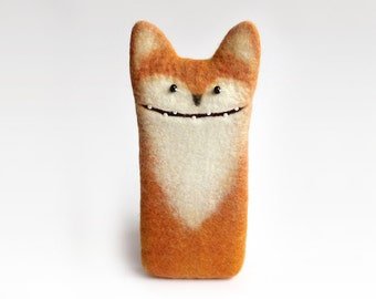 Fox case for  iPhone 7 Plus,  felted fox, eco friendly, birthday gifts