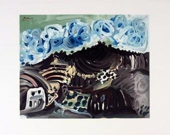Pablo Picasso-Vue Depuis L'Atelier De L'Artiste-1980 Mourlot Lithograph