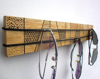 wooden sunglasses organizer