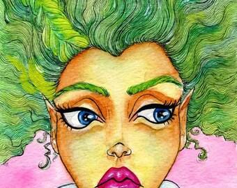 "Original Watercolor 5x7"" - Severina"