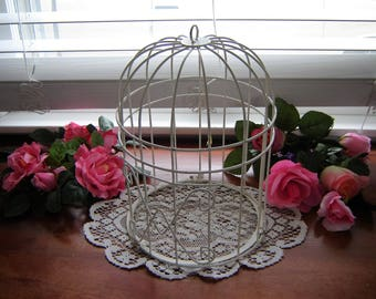 White birdcage round removable bottom wedding card box wedding table decor home decor diy flower holder garden decor