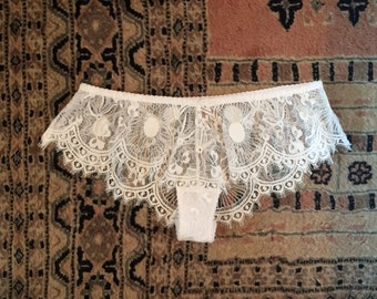 White Lace french Knickers - White panties - White lace short