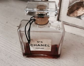 Vintage authentic Chanel display perfume factice bottle 1960s french shabby nordic chic display