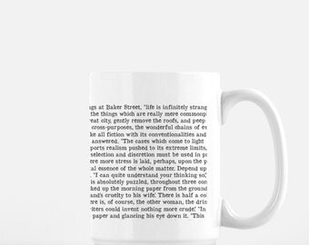Sherlock Holmes, Infinitely Stranger, Arthur Conan Doyle, Gifts for Readers, Book Quote, Book Coffee Mug, Gift for Book Lover, Bookworm Mug