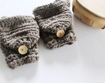 Wool mittens, Women's gloves, Warm wool convertible mittens,  -  The CERYS- Women's winter mittens - Crochet gloves