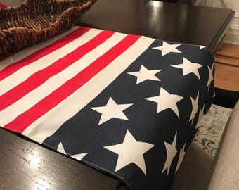 Patriotic Table Runner | RED WHITE BLUE | 4th of July Table Runner | Patriotic Table Runner | American Flag | Patriotic Centerpiece