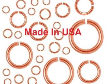 Copper 18Ga 5mm Jump Rings 20oz