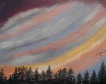Pastel Skyscape - Winding Sunsent