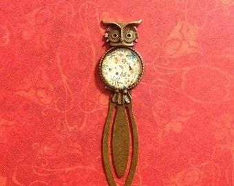 Owl Bookmark Antique Brass Bookmark Glass Bookmark