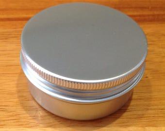 6 Round Tins, Lip Balm or Storage, 58 x 28mm, 50 ml Screw Top Tin, Blank Metal Tin