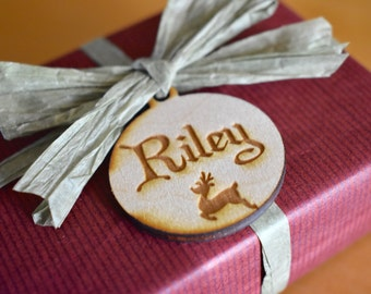 Wooden Gift Tags, Set of 6, Custom Wooden Gift Tags
