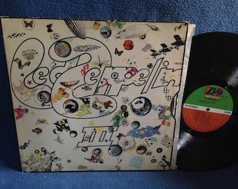 "RARE, Vintage, Led Zeppelin - ""III"" Vinyl LP Record Album, Original First Press, Broadway, Tangerine, Immigrant Song, Bron-Y-Aur Stomp"