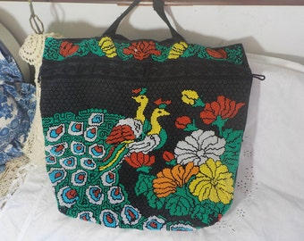 Pretty Beaded Purse with Birds On it /Not included in Coupon Sale