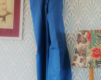 Vintage flared pants ocean blue - Size EU36