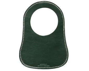 Personalized Fuel Bib For Classic Mini, British Racing Green Leather, Free Shipping