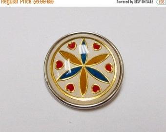 On Sale Vintage Pennsylvania Dutch Hex Sign Pin Item K # 157