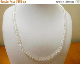 On Sale SWAROVSKI Clear and Frosted Crystal Beaded Necklace Item K # 479