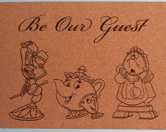 Be Our Guest Cork Placemats / Set of 4