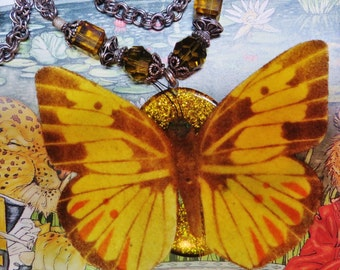 Butterfly Necklace- Yellow