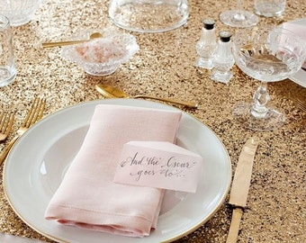 Gold Sequin Tablecloths, 1DAYFREESHIP, Sequin Tablecloths, Sequin Overlays. Kate Spade, Gatsby, Glam, Circus theme, Carnival, Derby,