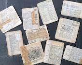 10 Handmade Vintage Paper tags-cards-journal spots - assorted sizes, for gifts, Art Journals, Junk Journals, Smash Books, scrapbooks