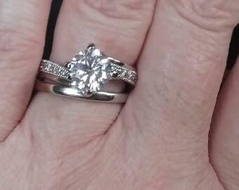 Vintage Bridal Set -Engagement Ring Set