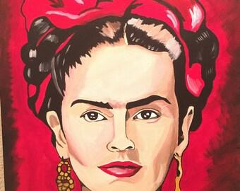 Frida Kahlo handpainting 16x20