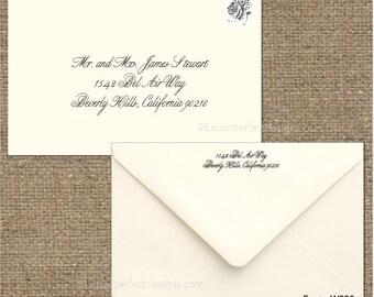 Custom Wedding Digital Calligraphy Envelope Addressing Printing - Font W200