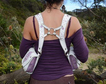 white and pick shoulders holster , holster bag,