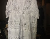 Vintage Victorian Girls Eyelet Dress