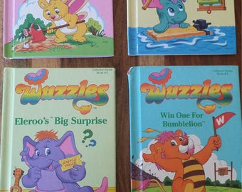 Wuzzles books 1-4 Butterbear,Moosel, Eleroo and Bumblelion with free shipping in the US