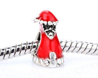 Santa Spacer Bead  For European Style Charm Bracelet