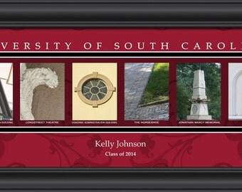 PERSONALIZED & FRAMED NCAA South Carolina Gamecocks Letter Art Sports Prints