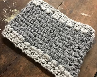 Kids knitted grey cowl / clearance sale / 4-6 years old
