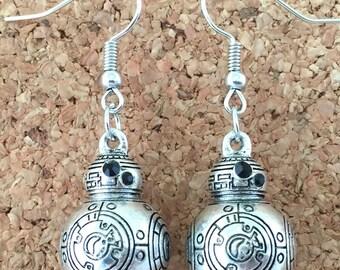 Star Wars inspired BB8 earrings