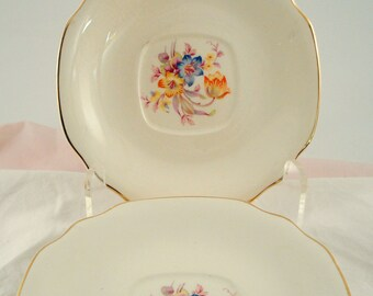 Vintage Wedding Saucers Dessert Plates Royal China Romance Bread Butter Romance Floral Dessert Plates Shabby Chic Set of 4 Vintage Bridal