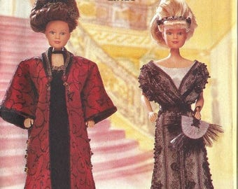 Butterick 6618 Barbie Edwardian Gown and Coat Pattern New Factory Folded