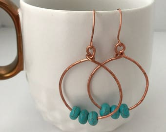 Hoops and beads earrings