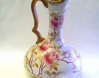 30% Off Storewide Rare Antique Royal Adderley Bone China Floral Design Pitcher or Ewer