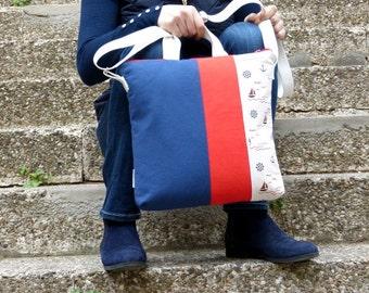 Nautical Shoulder bag  crossbody bag messenger bag