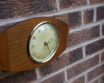Vintage Westclox Mechanical Mantel Clock in Wooden Frame