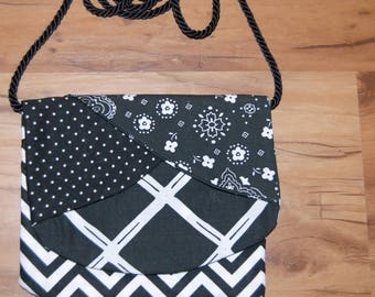Black And White Small Crossover Bag