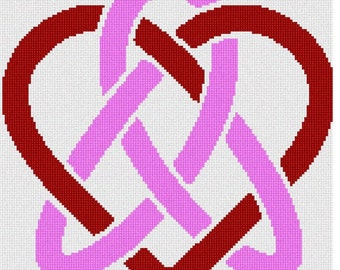 Needlepoint Kit or Canvas: Celtic Heart