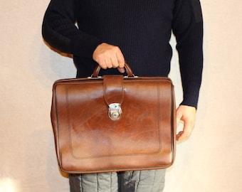 Soviet briefcase Vintage mens briefcase Vintage briefcases Soviet mens briefcase Retro mens briefcase
